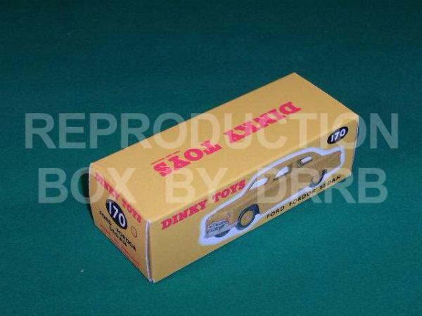 Dinky #170 Ford Fordor Sedan - Reproduction Box ( Yellow)